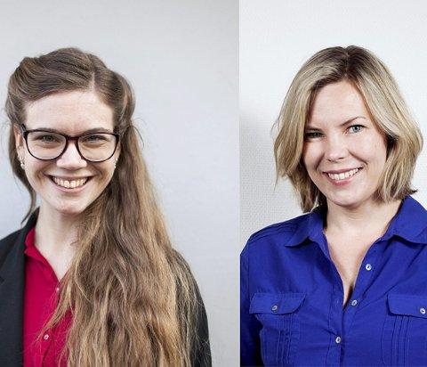 Bokaktuelle: Jenny Jordahl (til venstre) fra Ski gir ut «Rumpefeiden» sammen med Marta Breen. FOTO/MONTASJE: HILDE UNOSEN/EIRIK LØKKEMOEN BJERKLUND