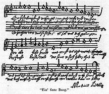 Vår Gud han er så fast en borg. Salme av Martin Luther.