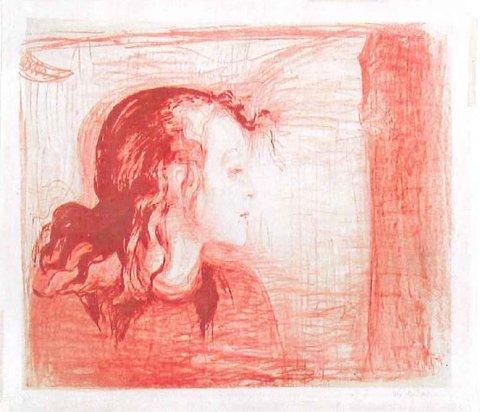 Oslo politidistrikt har i lengre tid etterforsket en sak der to litografier av Edvard Munch er forsvunnet. De to litografiene er «Syk pike» («Sick child») og «Døden i sykeværelset». Her er det «Syk pike» som er avbildet.