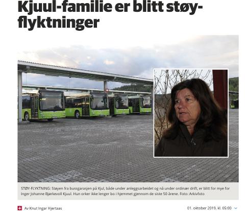 FLYTTER: Inger Johanne Bjørkevoll Kjuul og ektemannen orker ikke mer støy og flytter fra Nittedal uansett hva nye støymålinger måtte vise.