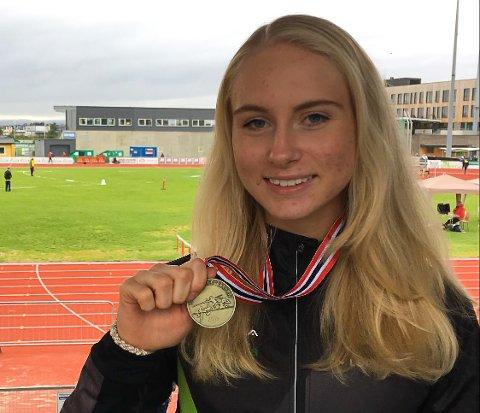 BRONSEVINNER: Anne Hjorth Arntsen tok UM-bronse på 3000 meter. Det var første gang hun løp distansen.