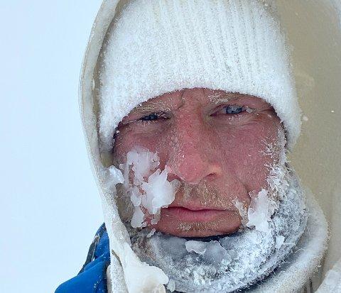 350 KM PÅ SKI: Knut Skinnes (29) fra Krødsherad er en av elleve mann som går på ski fra Lofthus i Hardanger til Oslo 4. til 12. mars.