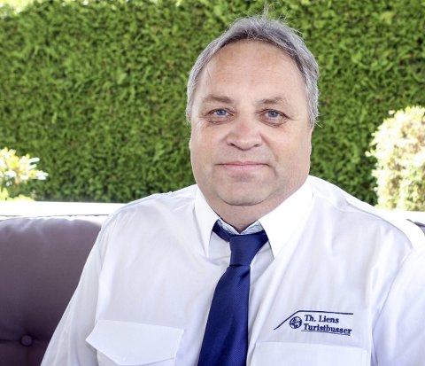 MOSKVA NESTE: Johnny Strand fra Steinberg teller ned til avreise. Fra 30. juli skal han ratte Th Liens buss til Moskva.