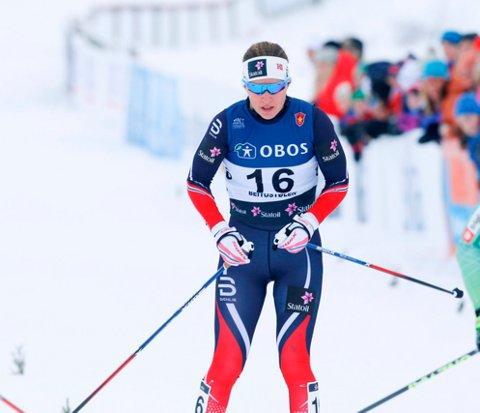 NUMMER FEM: Lotta Udnes Weng hang godt med i sprint-prologen i U23-VM.