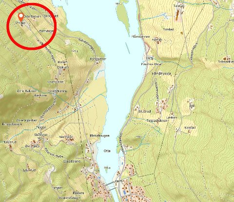 Raset gikk i Øverbygdsvegen. Flere eiendommer i retning Lalm vil bli vurdert for evakuering.