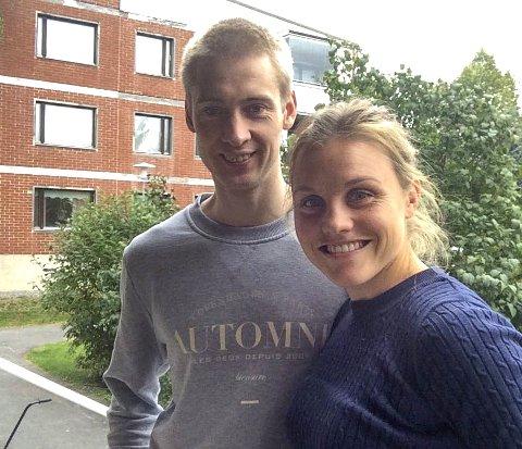 PÅ PLASS: Olav Lundanes og Ida Marie Næss Bjørgul er på plass i finske Åbo, og gleder seg til et år i nye omgivelser.foto: privat