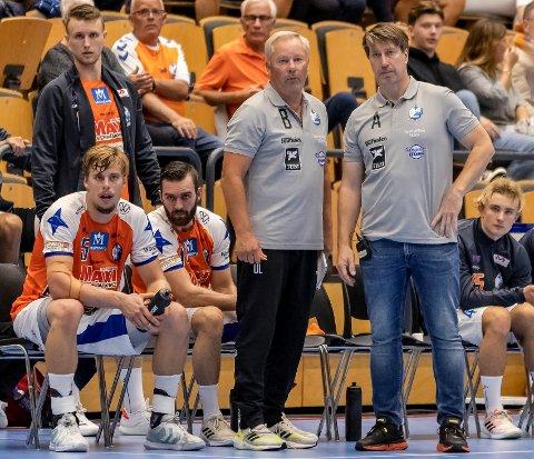 FOR NORGE: Jonas Wille (th), her i aksjon som trener for IFK Kristianstad i Sverige, blir ny hjelpetrener på det norske A-landslaget i håndball.