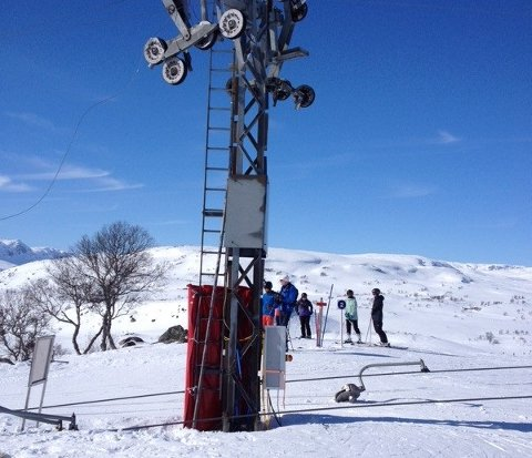 ULYKKE: Det var i denne skiheisen på Haukeli den 52 år gamle kvinnen ble skadet i påsken.