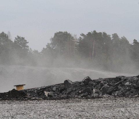 Sprengning i Sydbruddet på Langøya. Foto: Jarl Rehn-Erichsen