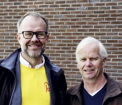 Nei til eiendomsskatt: – Sier Knut Vidar Hoholm og Arnfinn Horne Johansen til det som kan komme i ny kommune. Foto: KrF