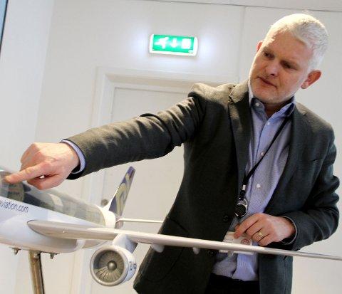 STREVER: Administrerende direktør Richard Betts  i NAP opplever vansker som følge av problemene i luftfarten. ARKIVFOTO