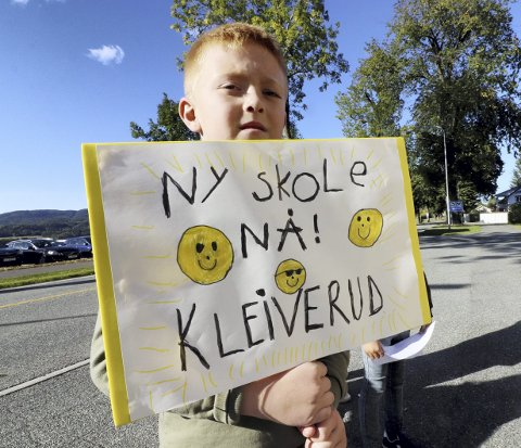 Nok snakk: Nå vil Martin, hans medelever, lærere og foreldre ved Kleiverud skole ha slutt på snakket. Foto: Pål Nordby