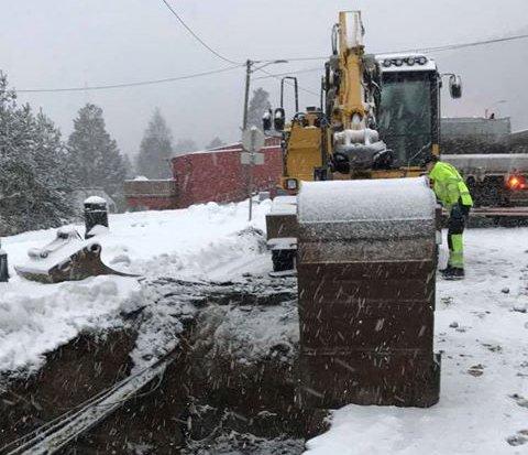 PROBLEMER: Kommunen jobber med å rette feilen mandag morgen.