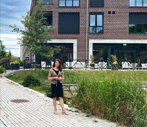 VERKET: Katharina Th. Bramslev viser gjerne frem dette området i Moss for sine venner som kommer til byen.