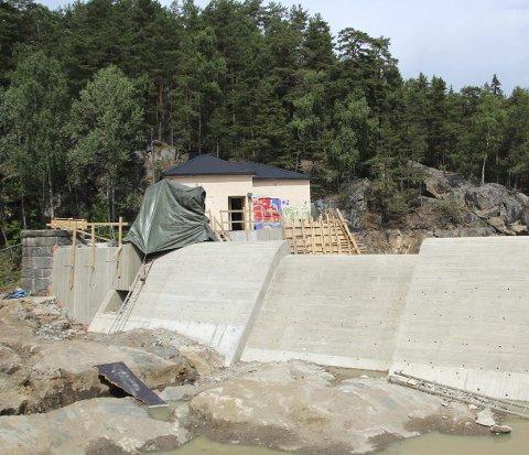 NY DEMNING: Slik ser den nye demningen ved Rustadsaga ut. Foto: Vann- og avløpsetaten