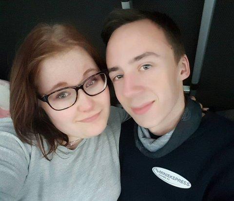 SJOKKERTE VITNER: Markus Dalvik Søreng og kjæresten Alina Jakobsen.