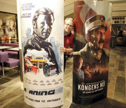 FORNØYD: Kinosjef Alexander Dalen ved SF Kino Ski. FOTO: STIG PERSSON