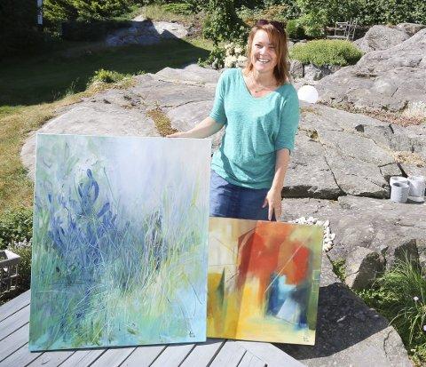 GLEDER SEG: Anita Lund Andersen fra Greverud har utstilling i Ustvedthuset på Waldemarhøy i Ski lørdag og søndag. FOTO: STIG PERSSON