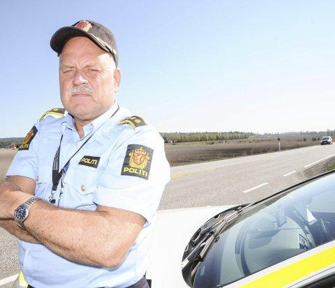 OPPGITT: Lensmann Svein Engen i Aurskog-Høland var frustrert og oppgitt etter en trafikkontroll i forrige uke.