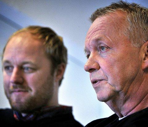 Fornøyde: Sportsjef Jonas Elofsson og trener Lenny Eriksson er begge fornøyde med signeringen som er gjort. Foto: jarl M. Andersen