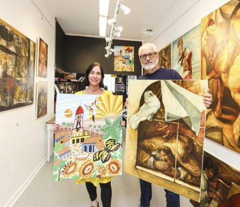 Cubansk kunst: Lørdag 7. oktober åpner Anette Ravneng og Olav Kjeldsen en utstilling med cubansk kunst Hos Anette.Foto: Lars Weberg
