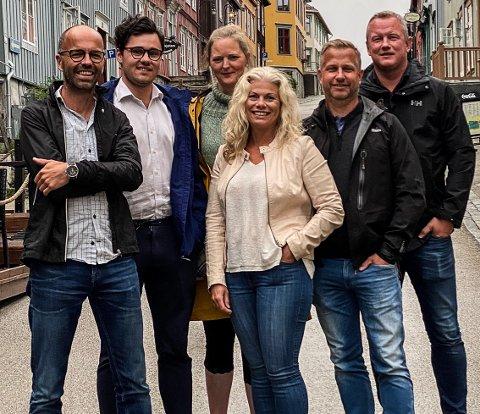 Fra venstre Trond Eliassen, Kristoffer Åsheim Johansen, Solveig Sigmond Ræstad,Tove Martens, Ole-Kjetil Lagård, Tom Vidar Karlsen