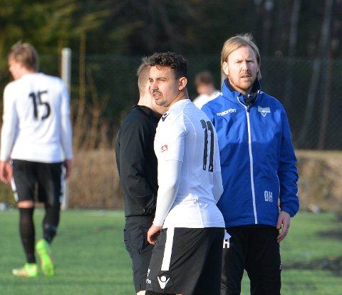 Ørjan Håland og Fana har fått en god start på sesongen. Vi tror de kan få med seg ett poeng fra Haugesund på Skjærtorsdag. (Foto: Eirik Gudmundsen, Hordalandsfotball)