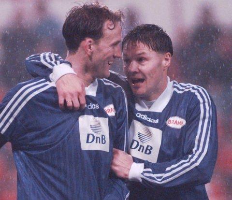 Geir Hasund og Mons Ivar Mjelde scoret målene borte mot PSV. Begge er enige om at Glimts triumf mot Roma er større enn deres egen bragd.