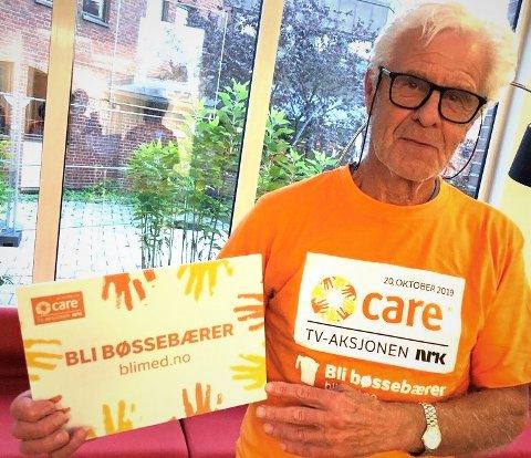 STILLER OPP: 77 år gamle Erik Gundersen har gjort en innsats for TV-aksjonen nesten hvert år siden starten av 1980-tallet.