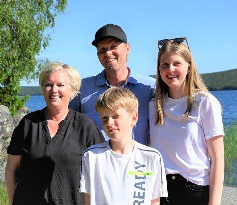 Familien Eidesvik Grønningen har vært åpne om kreftsykdommen.