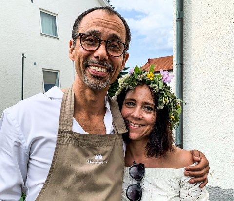 KJÆRESTER: Margit Syvertsen og svenske Jonas Thorsell er kjærester på avstand nå på grunn av koronapandemien.