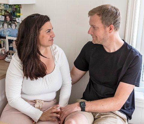 Christina Mendjion og David kunne onsdag kveld krysse grensene for å se hverandre igjen.