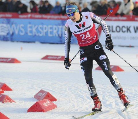 HAR MER INNE: Emil Vilhelmsen fikk ikke tatt ut potensialet i hoppbakken i NM og nådde derfor ikke det ambisiøse målet om å få delta i verdenscupen.
