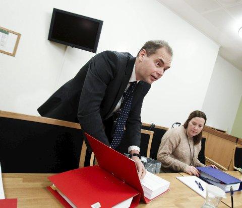 Vant fram: Aktor, politiadvokat Jahn Schei, er godt fornøyd med å ha fått rettens medhold i at snekkeren fra Moss ble dømt til to års fengsel. Foto: Terje Holm