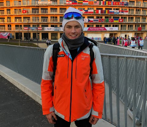TOPPLØP: Stian Fedreheim fra Elverum ble lørdag nummer fem i Ungdoms-OL i skiskyting.