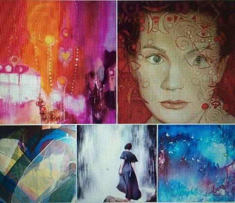 VARIERT: Med 20 kunstnere på programmet, blir uttrykket variert. Her er noen av bildene som skal vises.foto: privat