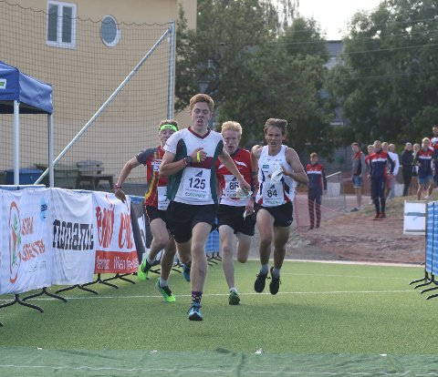 SUKSESS: Martin Vehus Skjerve i den røde Verdal-drakta er på vei mot nok en NM-medalje.
