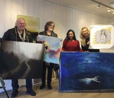 Utstilling:  Erik Jansen, Tove Lien, Gro Mukta Holter og Kaja Vedvik stiller ut i Oslofjorden Kunstsenter.