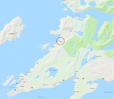 Ulykken skjedde ved Skaug på Nordsia i Bodø.