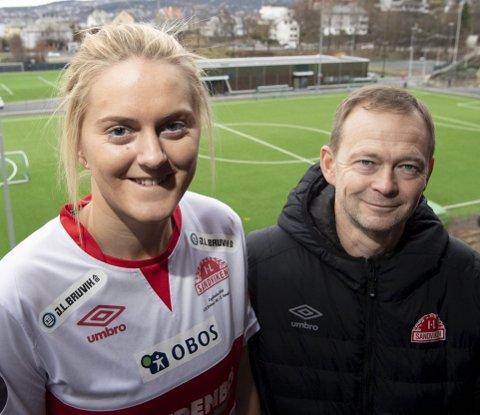 The Double? Nei, Maria Brochmann må le litt av BAs spørsmål. Det ville nok trener Patrik Hansson også gjort.