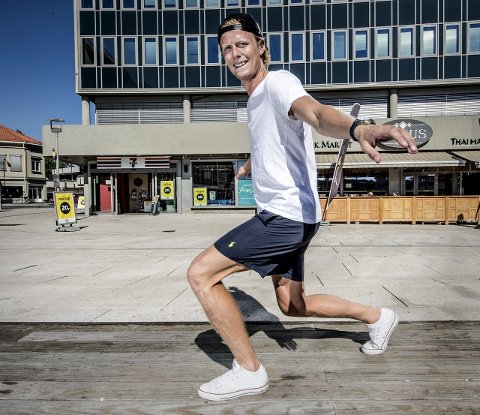 HAR LANDET: Andreas Aalbu stortrives i sin nye hjemby. Foto: Geir A. Carlsson