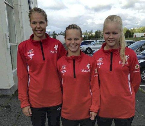 Narvik-trioen Vilde Fjelldal, Katrine Winnem Jørgensen og Ida Fikseth Fossem fått et trenerteam det lukter krutt av.