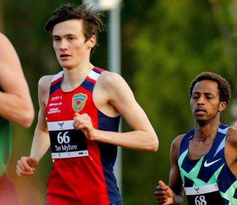 KLAR FOR NM: Magnus Tuv Myhre fra Jevnaker er favoritt i junior-NM i Bergen.