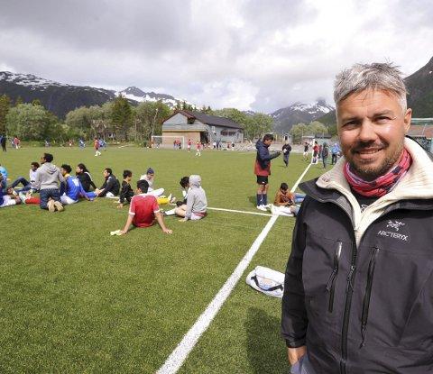 Svolvær mottak: Daglig leder Ulf-Eirik Johansen ved Svolvær Mottak koste seg over å se gleden som tiltaket skaper.