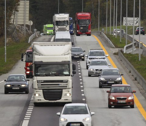 Øker mest: Trafikken på E6 har økt langt mer enn landsgjennomsnittet og betydelig mer enn Østfold generelt.