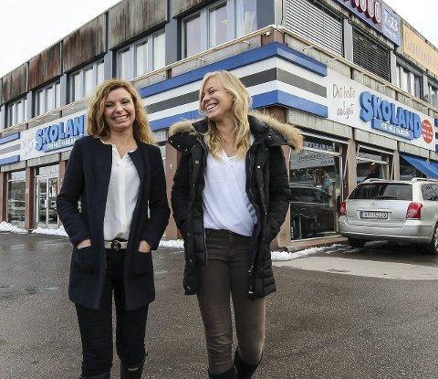 Sammen igjen: Styreleder Trine Lise Wahl (t.v.) har fått med seg lillesøster Silje Andrea Berger Wahl i M8 Eiendom. De ser fram til å jobbe tett sammen.