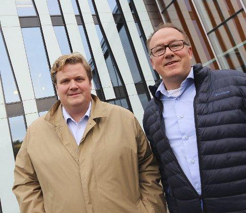 Ypper seg: Chilimobil utfordrer Telenor og Telia på pris. Nå sikter selskapet seg inn mot en omsetning på 100 millioner, forteller adm.dir. Lars Ryen Mill og teknisk sjef Sverre Skibnes (t.h.).