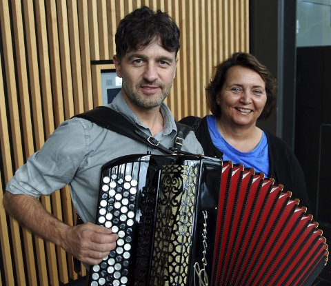 Musikalske ledere: Otto og Heidi Kiss var fornøyde og stolte av mosseinnsatsen i NM.