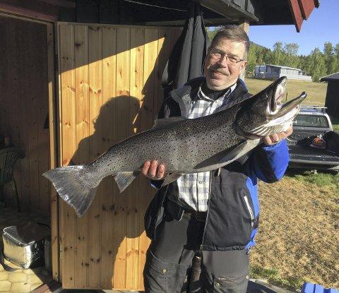 Vinner: Dag E. Hellerud vant mjøsørretklassen.