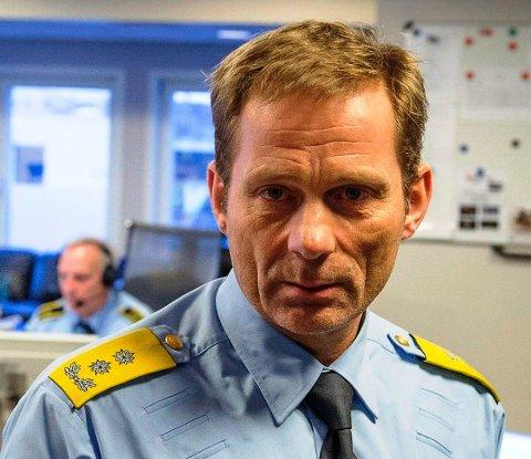 FÆRRE UTSATT FOR KRIMINALITET: Politimester Johan Brekke er glad for at færre blir utsatt for kriminalitet, men tror tallene må sees i sammenheng med koronasituasjonen.